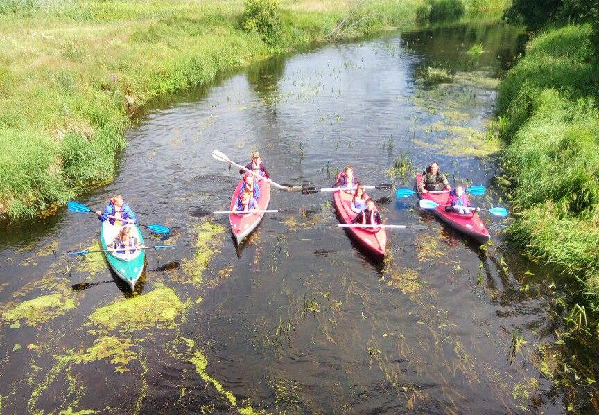 В Беловежской пуще стартовал трехдневный водный сплав по реке Лесная